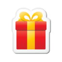 128x128px size png icon of Xmas sticker gift