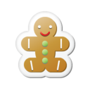 128x128px size png icon of Xmas sticker gingerbread
