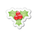 Xmas sticker mistletoe Icon
