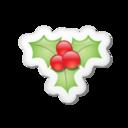128x128px size png icon of Xmas sticker mistletoe