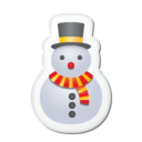 128x128px size png icon of Xmas sticker snowman