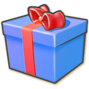 128x128px size png icon of Giftbox blue