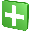 128x128px size png icon of Plus