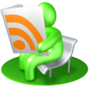 128x128px size png icon of RSS Reader Green
