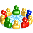 128x128px size png icon of Social network