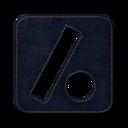 128x128px size png icon of Slash dot square