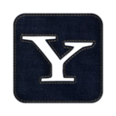 128x128px size png icon of Yahoo square