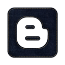 128x128px size png icon of blogger square