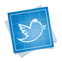 128x128px size png icon of twitter bird