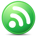 128x128px size png icon of Feeds Green