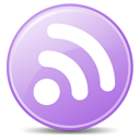 128x128px size png icon of Feeds Lilac