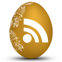 128x128px size png icon of rss white