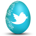 128x128px size png icon of twitter white