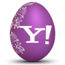 128x128px size png icon of yahoo white