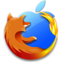 128x128px size png icon of Firefox Mac