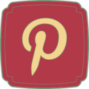 128x128px size png icon of Pinterest