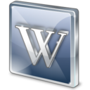 128x128px size png icon of Wikipedia