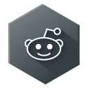 128x128px size png icon of Reddit