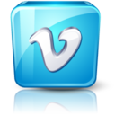 128x128px size png icon of Vimeo