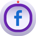 128x128px size png icon of facebook