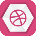 128x128px size png icon of dribbble