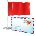 128x128px size png icon of status mail
