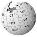 128x128px size png icon of Wikipedia globe