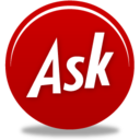 128x128px size png icon of Ask