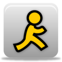 128x128px size png icon of aol