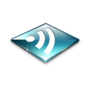 128x128px size png icon of Rss Feeds Blue