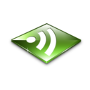 128x128px size png icon of Rss Feeds Green