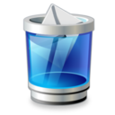 128x128px size png icon of trash mail