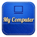 128x128px size png icon of mycomputer