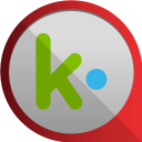 128x128px size png icon of kik