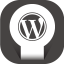 128x128px size png icon of wordpress