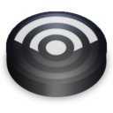 128x128px size png icon of Rss black circle