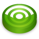 128x128px size png icon of Rss green circle