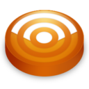 128x128px size png icon of Rss orange circle
