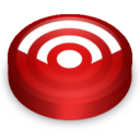 128x128px size png icon of Rss red circle