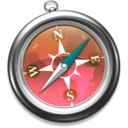 128x128px size png icon of Safari roze
