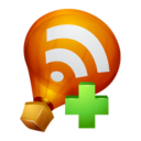 128x128px size png icon of Ballon RSS Feed Add