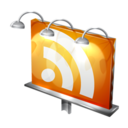 128x128px size png icon of Billboard RSS Feed