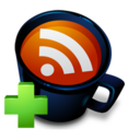 128x128px size png icon of Coffee Cup RSS Feed Add