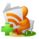 128x128px size png icon of Newspaper RSS Feed Add