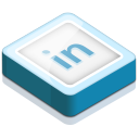 128x128px size png icon of linked in