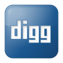 128x128px size png icon of social digg box blue