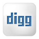 128x128px size png icon of social digg box white