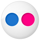 128x128px size png icon of social flickr button