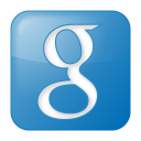 128x128px size png icon of social google box blue