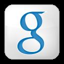 128x128px size png icon of social google box white